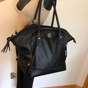 Lululemon Vegan Leather Weekender/Workout Gym Bag